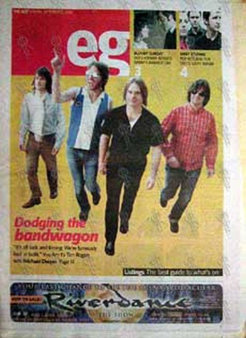 YOU AM I - 'Eg' - 'The Age' Friday Oct 4 2002 - You Am I On The Cover - 1