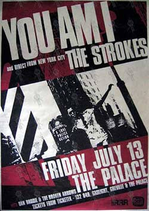 The Strokes You Am I The Palace Friday July 13 2001 Gig Poster Billboard Sizes Posters Rare Records