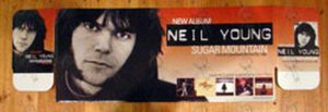YOUNG-- NEIL - 'Sugar Mountain' CD Dump Bin Display - 1