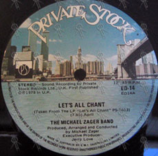 ZAGER-- MICHAEL BAND - Let's All Chant - 2