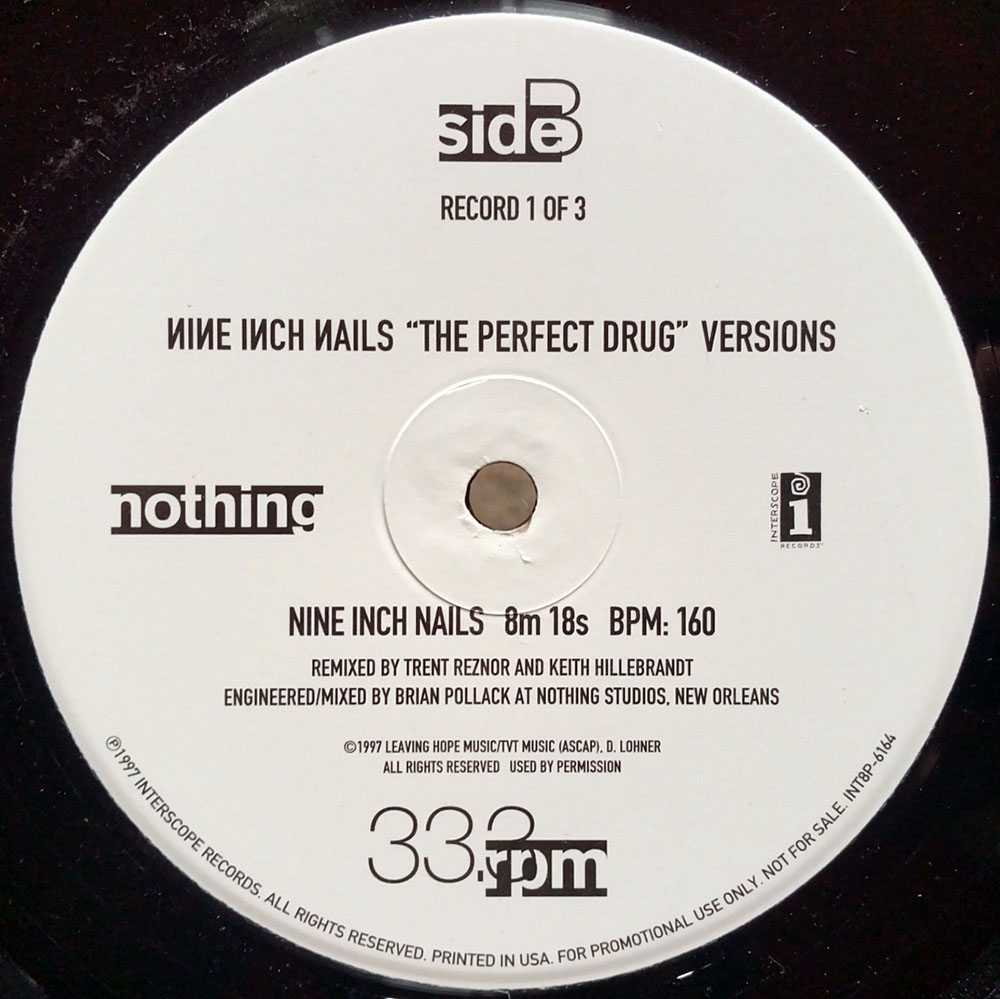 NINE INCH NAILS - The Perfect Drug (1 of 3) (12 Inch / LP, Vinyl ...
