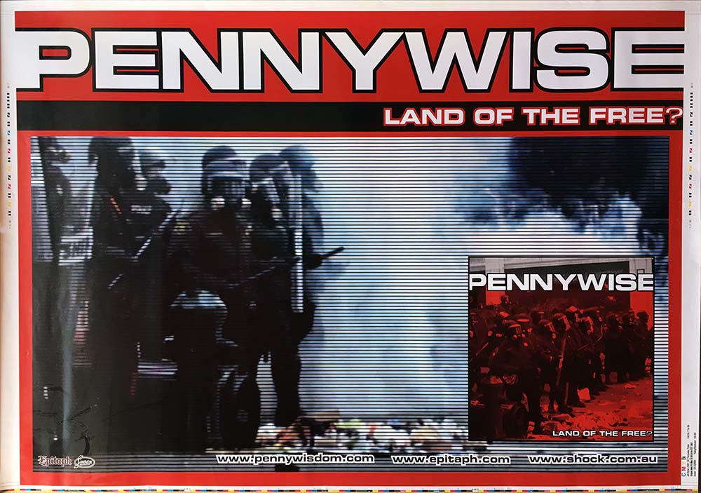 Pennywise Land Of The Free Album Promo Poster Posters