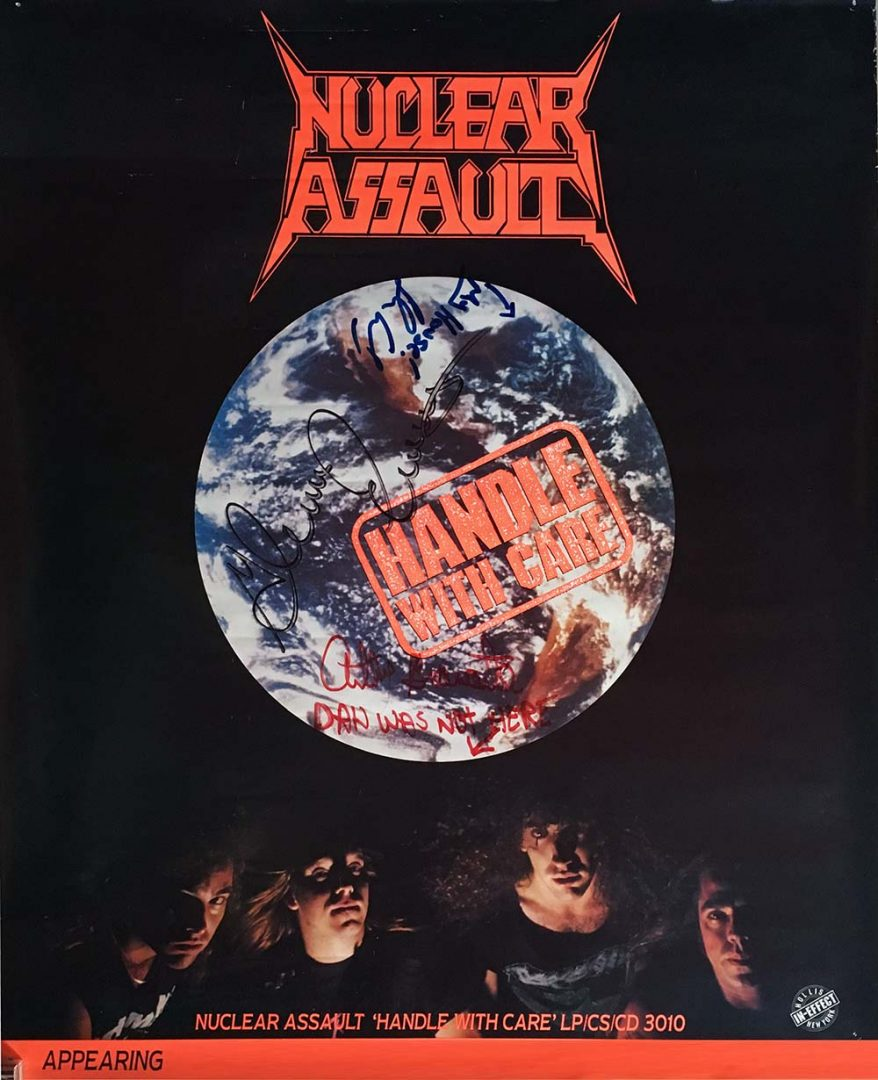 Nuclear Assault Handle With Care Album Promo Poster