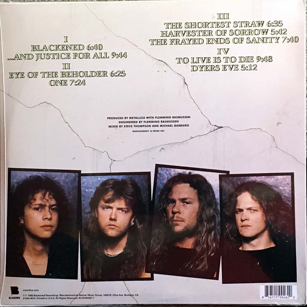 Metallica And Justice For All 12 Inch Lp Vinyl