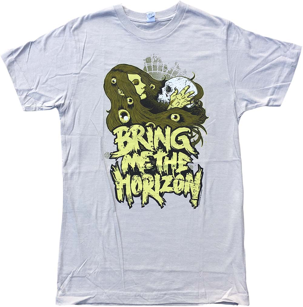 100082ced BRING ME THE HORIZON - Girl With Skull Design Beige Youth T-Shirt ...
