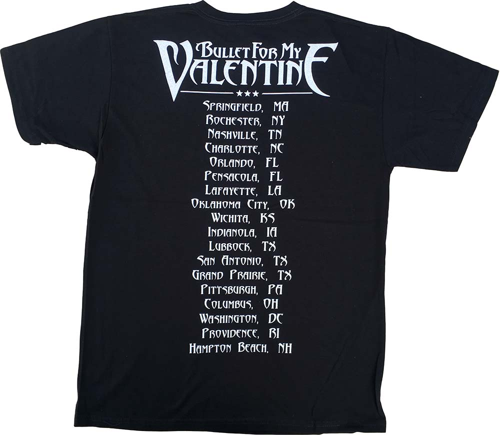Bullet For My Valentine 2011 Us Tour Cannibal Girl Design Black