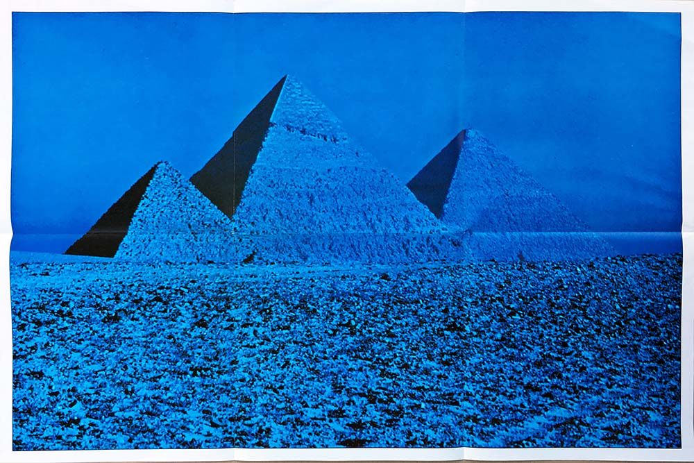 Pink Floyd Dark Side Of The Moon Blue Pyramids Poster