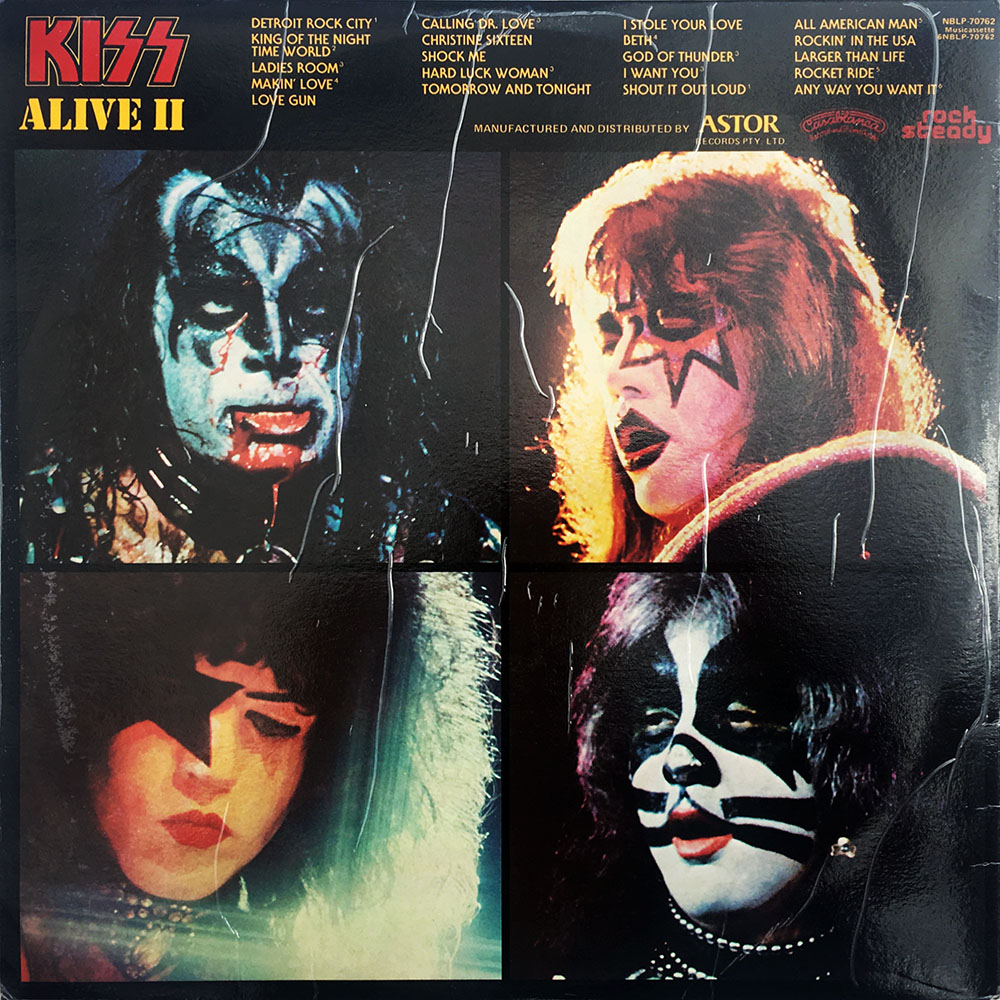 Kiss Alive Ii Double Vinyl Lp Astor Casablanca Rock Steady