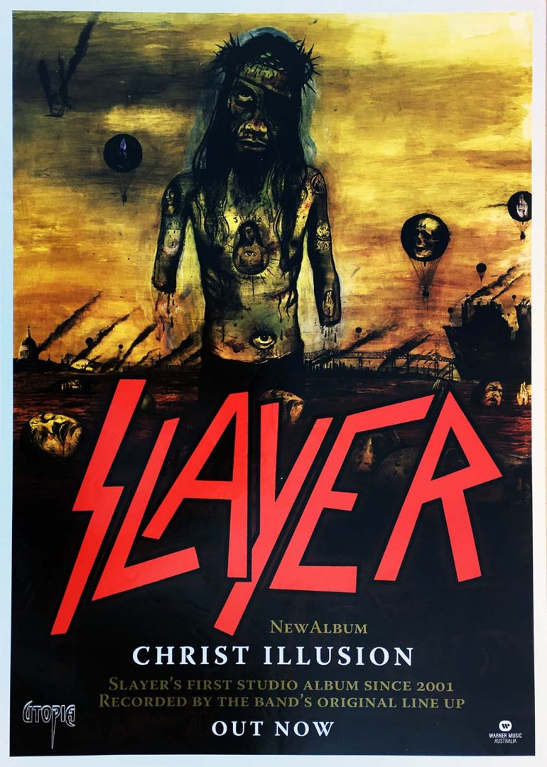slayer christ illusion album promo poster posters regular sizes
