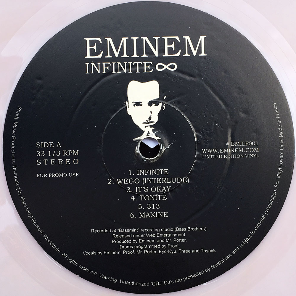 Eminem Infinite 12 Inch Lp Vinyl Rare Records