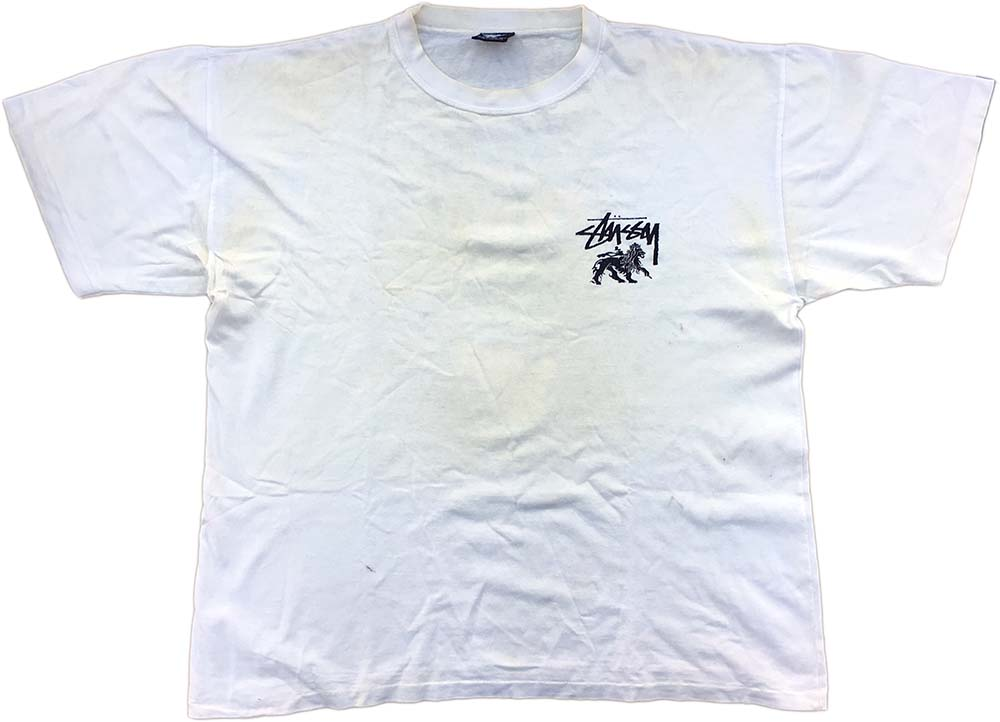 Stussy one world live clean white t shirt clothing for How to clean white dress shirts