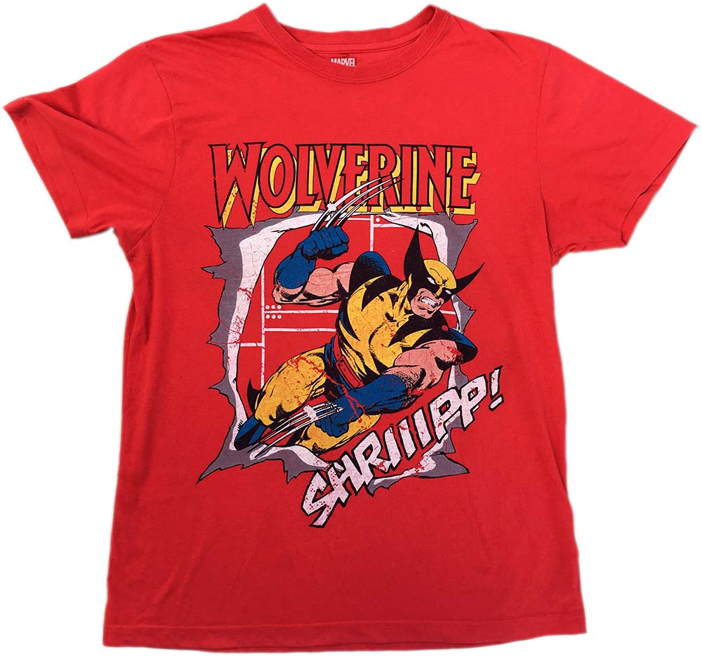 cfb8f474 MARVEL, X-MEN - Wolverine Retro Style Red T-Shirt (Clothing, Mens ...