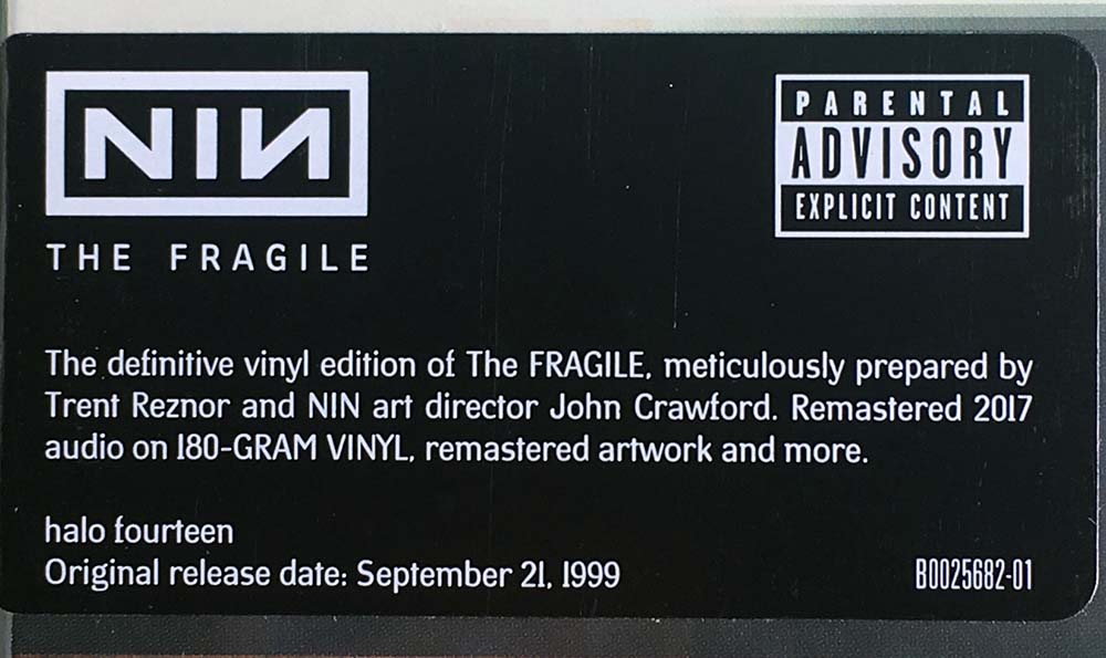 NINE INCH NAILS - The Fragile (12 Inch / LP, Vinyl) | Rare Records