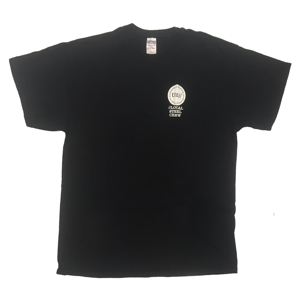 Black 'Local Steel Crew' T-Shirt