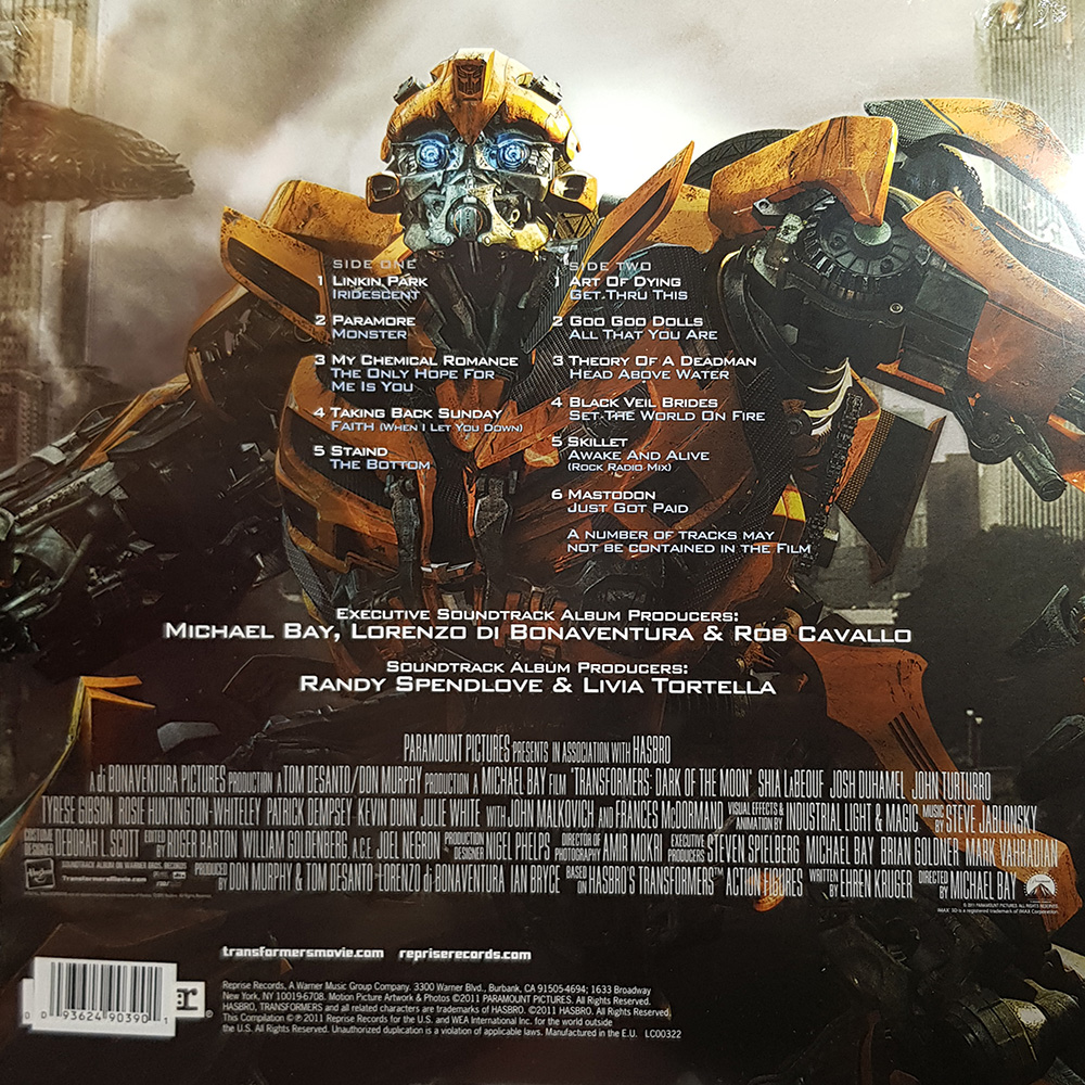Various Artists Transformers Dark Of The Moon The